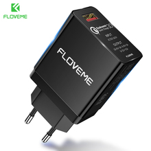 FLOVEME Fast Charging QC3.0 Universal Phone For iPhone X XS 8 7 Plus Travel USB Charger Samsung Galaxy S10 S9