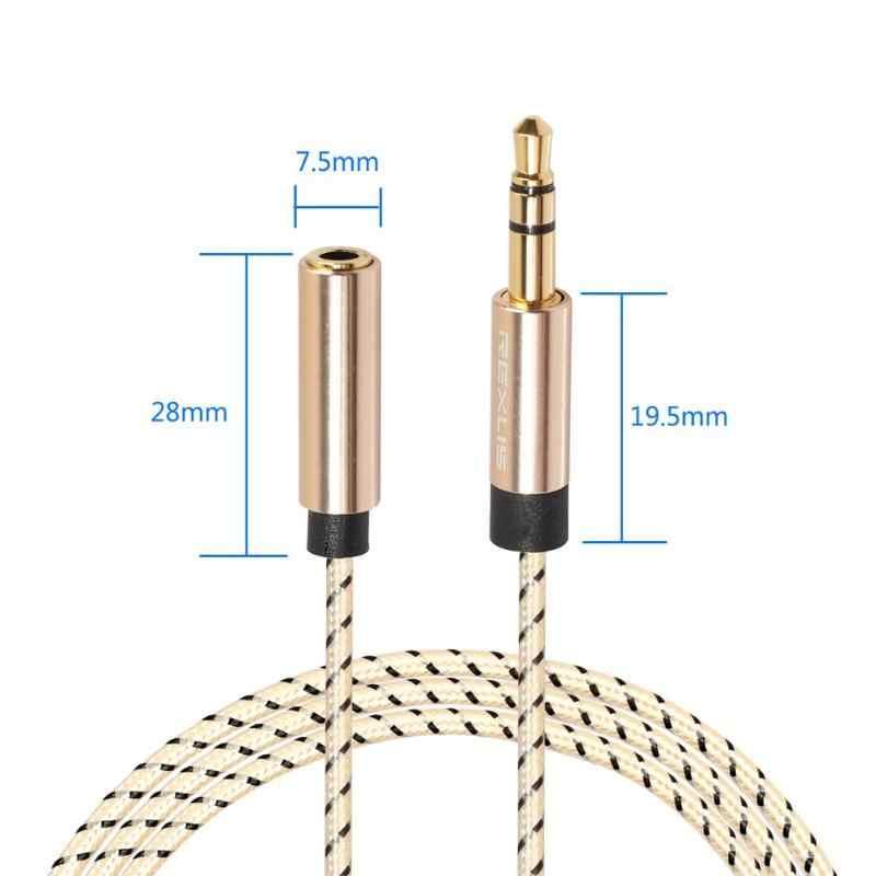 للكمبيوتر الهاتف مكبر للصوت مزين سماعة تمديد كابل 3.5 مللي متر جاك الذكور إلى الإناث ستيريو Aux الصوت موسع الحبل