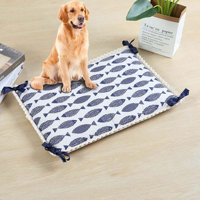 Summer Pet Cooling Mat Printed Breathable Waterproof Pet Pad Cat For Large Dog Bed Cushion Sleeping Pet Accessories