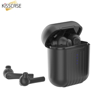 KISSCASE Mini Bluetooth Ear Hook Earphone TWS B3 Stereo Earbud Wireless Headset With Charging Box Mic For All Smartphone