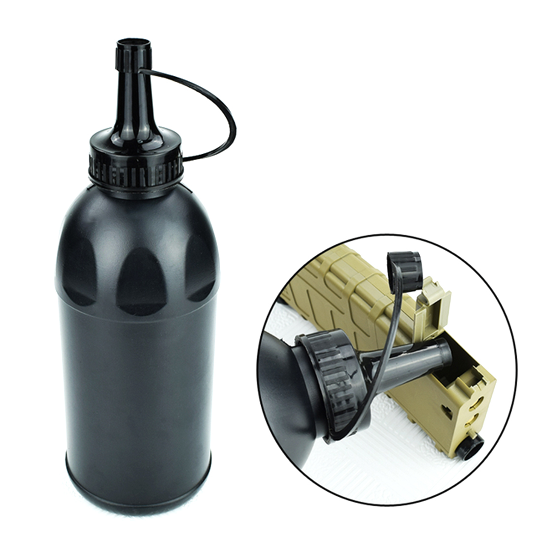 Bullet Artifact Bottle For Water Gel Beads Blaster CS Battle Fitness Outdoor Paintball Loading Accessories- Black