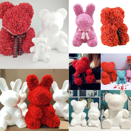 Girl Friend Gift Mother's Day Gift Bunny Bear Heart Modelling Polystyrene Styrofoam Foam Craft DIY Toy Valentine Gifts