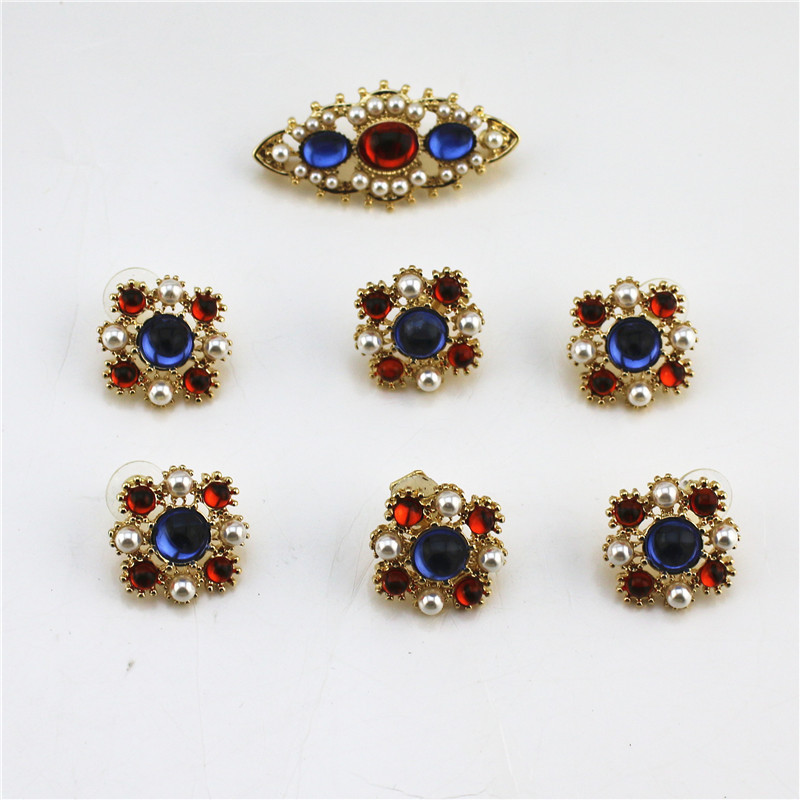 Earrings Ear-Clip-Set 925-Silver American-Style Fashion New European And Retro Brooch