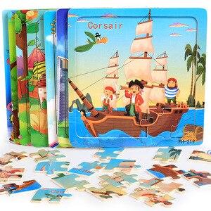Image 1 - DDWE 20 pièces Puzzles en bois jouets enfants 3D dessin animé animaux Puzzle jouet enfant haute qualité bois intéressant jouets éducatifs pour bébé