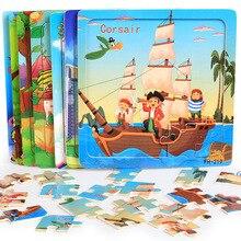 DDWE 20PCS Holz Puzzles Spielzeug Kinder 3D Cartoon Tiere Puzzle Spielzeug Kind Hohe Qualität Holz Interessant Pädagogisches Spielzeug Für baby