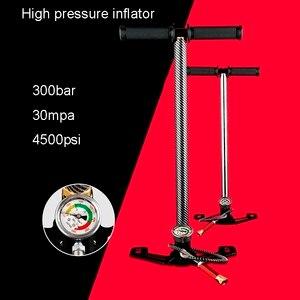 Image 2 - High Pressure Tire Air Pump 300bar 30mpa 4500psi 3 Stage Hand Pcp Pump For Air Rifles Air Gun Paintball,Air Compressor,inflator