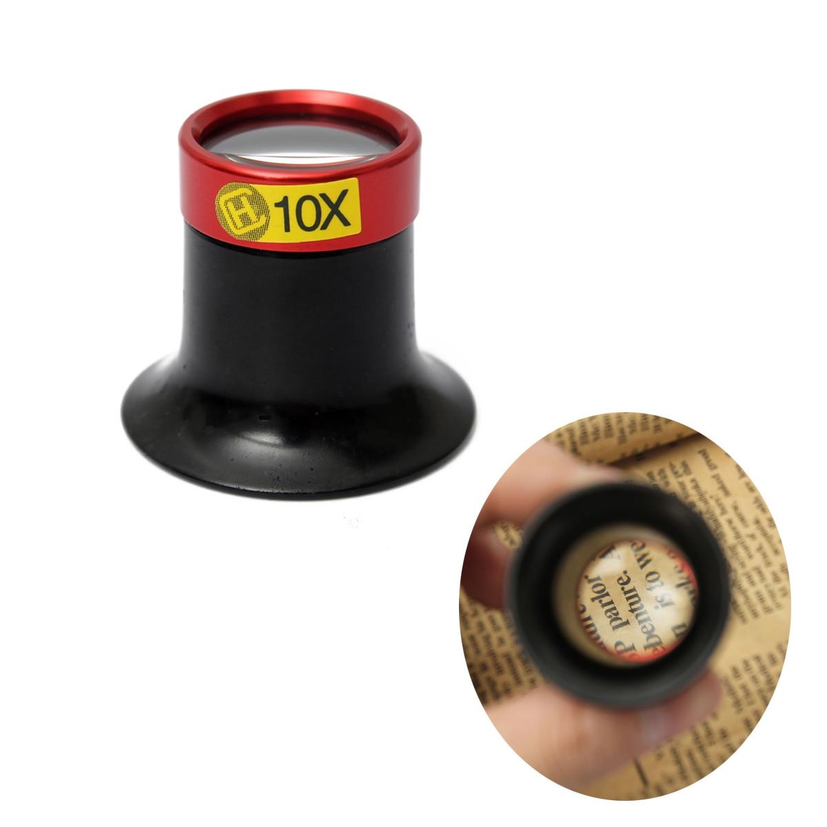 1 Pcs 10x Monocular Lupe Lupe Linse Lupe Auge Glas Juwelier Uhr Reparatur Werkzeug Haltegriff Tragbare Aluminium Legierung