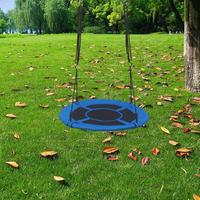 Kids Sport Outdoor Round Net Hanging Rope Nest Tree Rope Swing Safe Fitness Toys Equipment Indoor Garden For Children