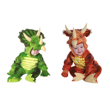 Cute Triceratops Dinosaur Costume For Toddler Kids Boy Girls Animal Cosplay Halloween