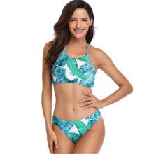 ECTIC Bikini 2019 Sexy Women Set Push-Up Brazilian Print Swimwear Beachwear Swimsuit Beach Bathing Suits