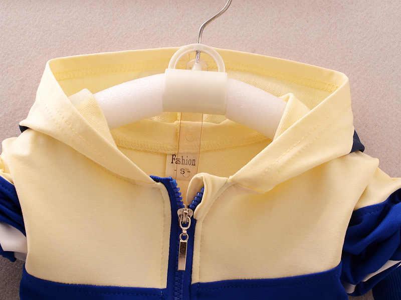 봄 가을 아기 소년 소녀 Tracksuits 패션 어린이 후드 자켓 바지 2Pcs 세트 어린이 브랜드 의류 유아 의류 정장