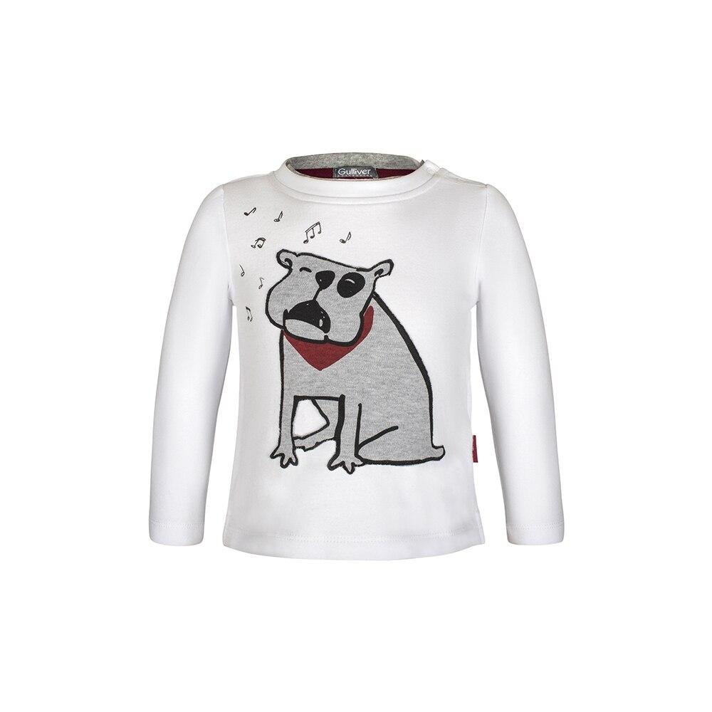 T-Shirts Gulliver 21833BBC1203 for boys Cotton Tshirt children kids boy clothing cute print tshirt