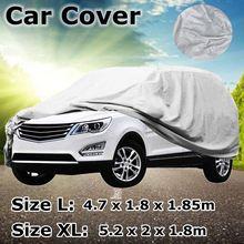 자동차 커버 L/XL 크기 SUV 전체 자동차 커버 눈 얼음 태양 비 내성 보호 방수 방진 야외 실내