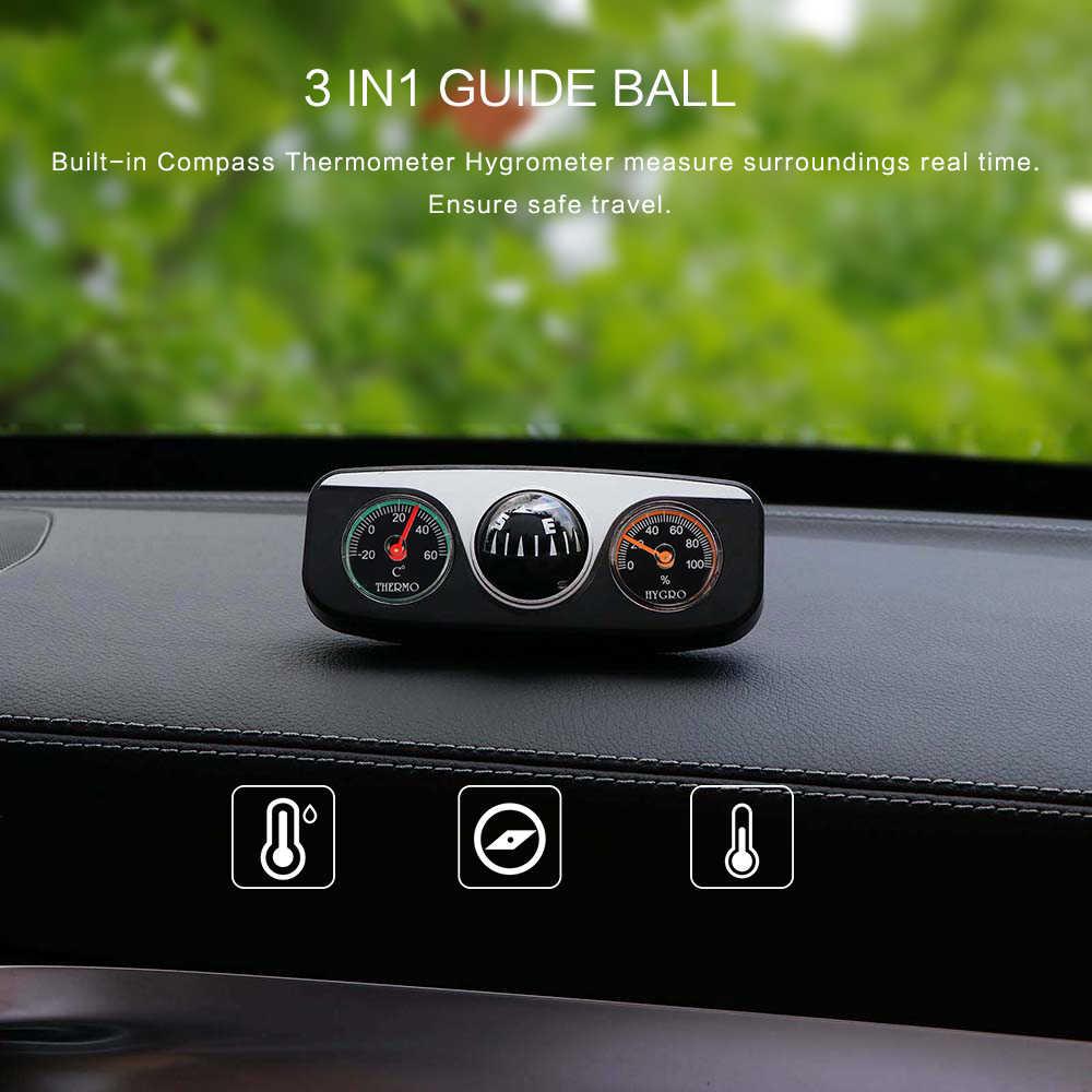 3 в 1 Автомобильный направляющий шар автомобильная лодка Авто компас температура