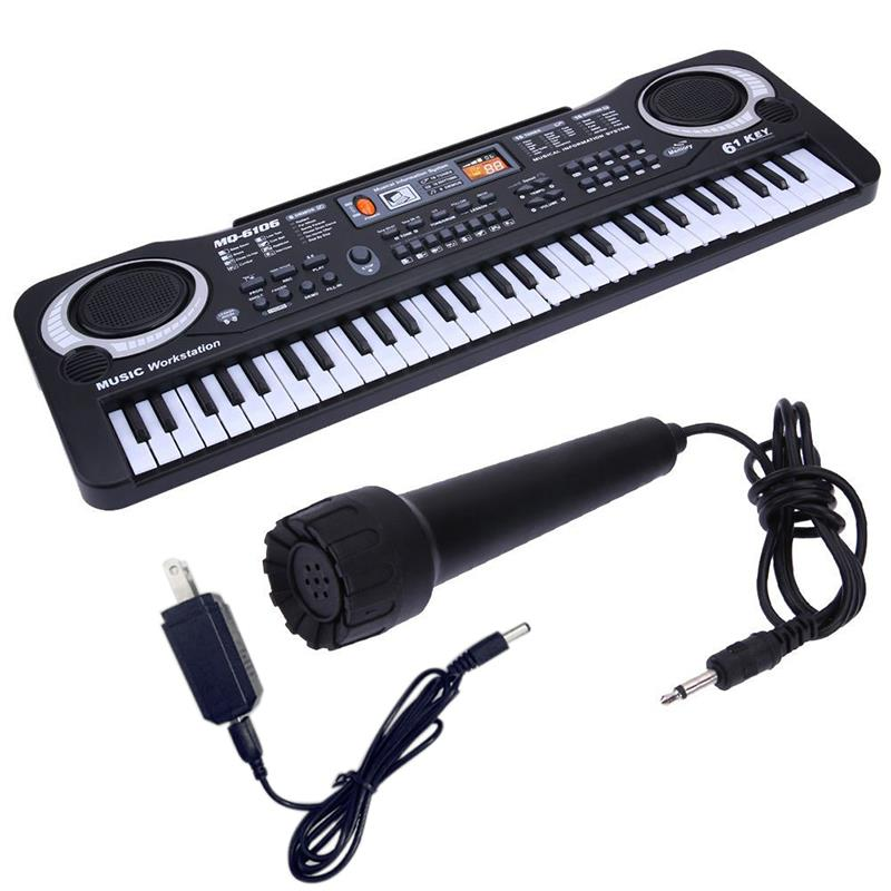 61 Keys Digital Music Electronic Keyboard Key Board Electric Piano Children Gift US Plug Educational Toy Musical Instrument
