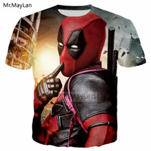 Movie Deadpool Cute 3D Print Tshirt Men/Women Crewneck Rock Style Streetwear Tee T shirt Boys Hipster Clothes poleras hombre