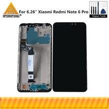 """Ban Đầu Axisinternational 6.26 """"Dành Cho Xiaomi Redmi Note 6 Pro Màn Hình LCD Khung + Bảng Điều Khiển Cảm Ứng Bộ Số Hóa Cho Redmi note 6"""