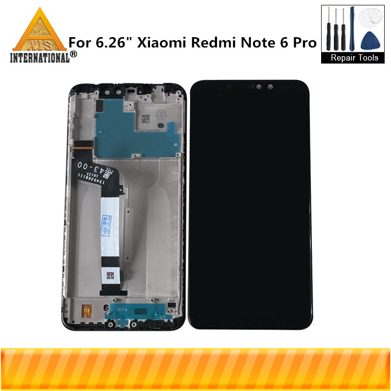 Original Axisinternational For 6.26Xiaomi Redmi Note 6 Pro LCD Screen Display With Frame+Touch Panel Digitizer For Redmi Note 6