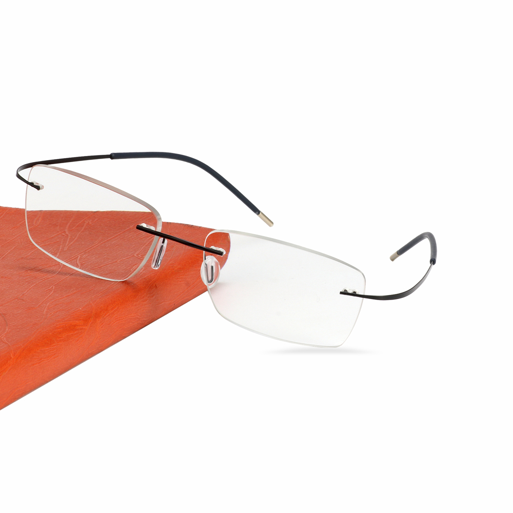 Image 4 - Titanium Rimless Glasses Myopia Glasses Photochromic glasses Men Women Chameleon Glasses Lens with Diopters  1.0 1.5 2.0 2.5 3.0-in Men's Eyewear Frames from Apparel Accessories