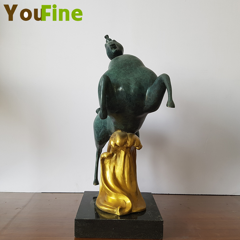 YOUFINE Handmade casting bronze decorative horse ornaments small pieces of interior decoration can support custom large si in Statues Sculptures from Home Garden