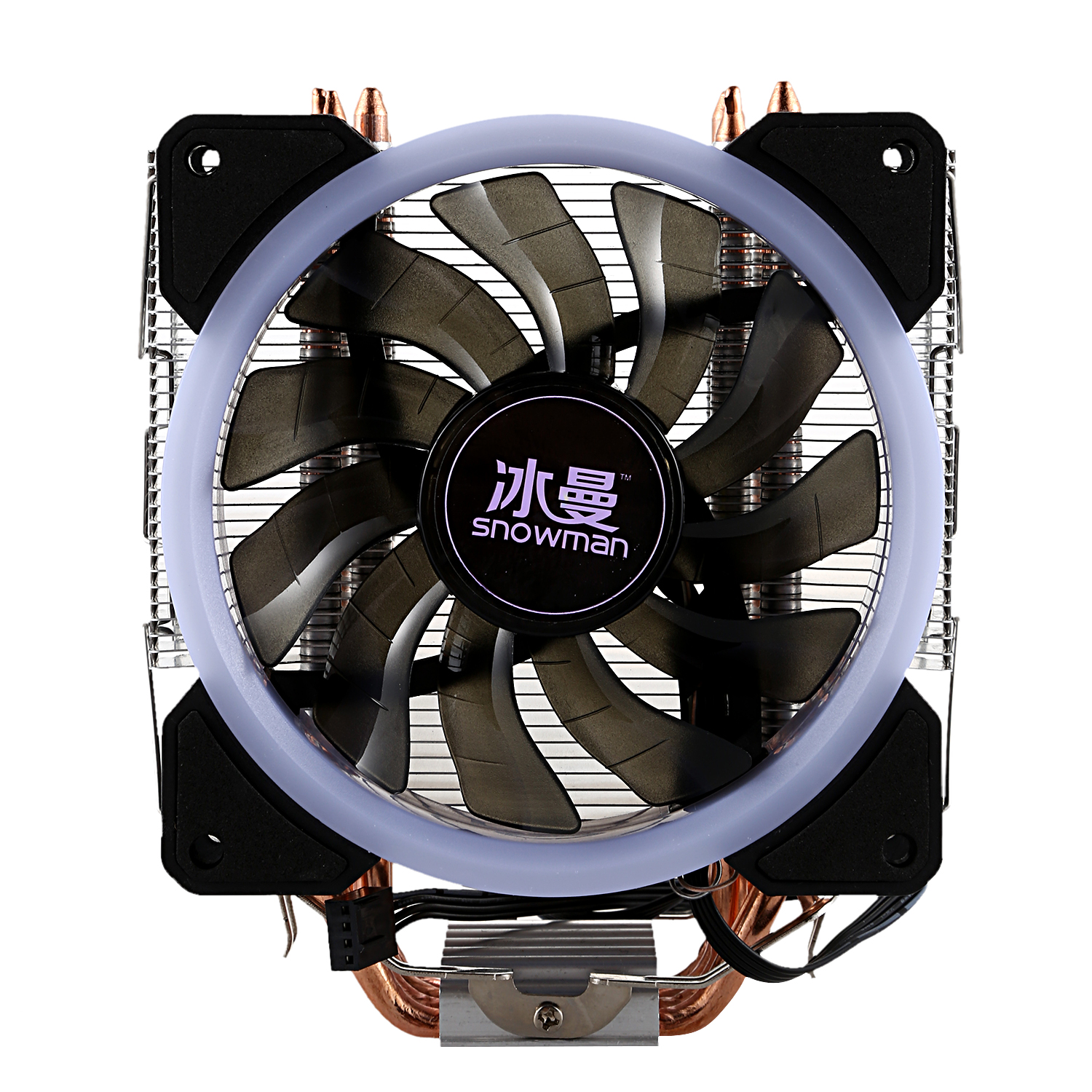 SNOWMAN LED CPU Cooler Master 5 Direct Contact Heatpipes Freeze Tower Cooling System CPU Cooling Fan With PWM Fans