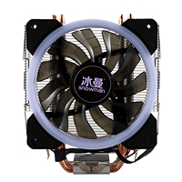 SNOWMAN LED CPU Cooler Master 4 Direct Contact Heatpipes freeze Tower Cooling System CPU Cooling Fan with PWM Fans|Fans & Cooling| |  -
