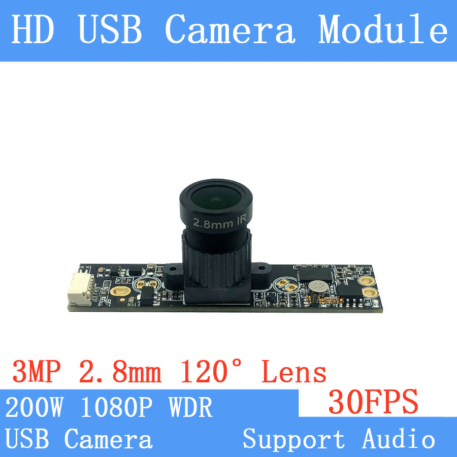 2MP 1080P Industrial 30FPS USB Camera Module 120Degree Wide Angle Wide Dynamic Backlight Compensation Face Recognition Camera2MP 1080P Industrial 30FPS USB Camera Module 120Degree Wide Angle Wide Dynamic Backlight Compensation Face Recognition Camera