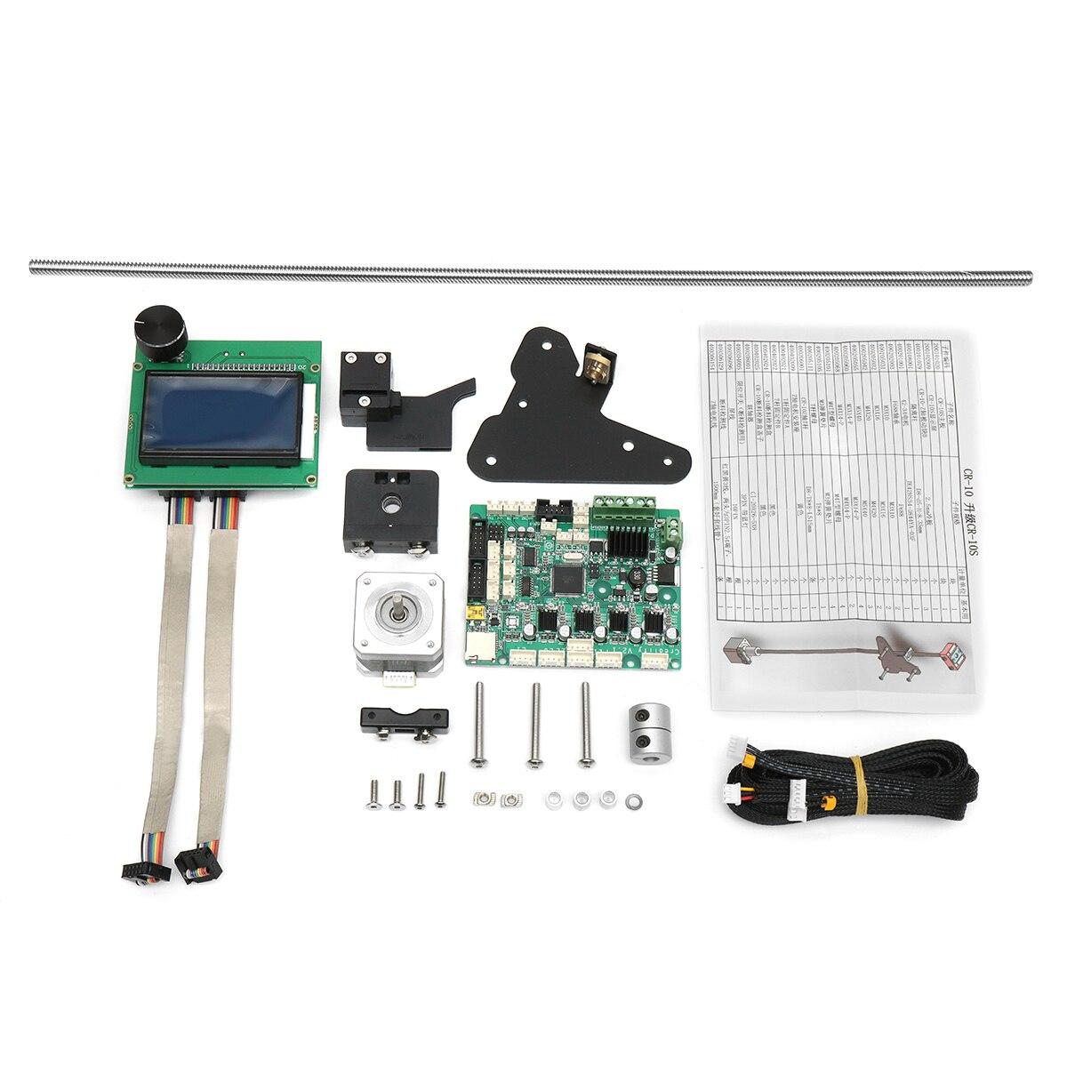 Kit de mise à niveau double axe Z Creatlity 3D avec carte mère/écran LCD/capteur de Filament/vis à tête T8 pour imprimante 3D CR-10S