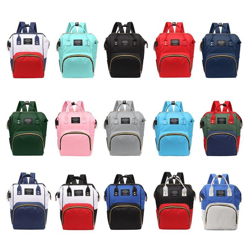 Commode momie sacs femmes momie maternité USB Port sac à dos grande capacité bébé sac voyage sac à dos Desinger sac d'allaitement