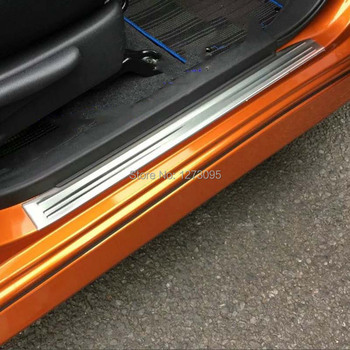 For Nissan Note E12 2018 2019 Stainless Door Sill Scuff Plate Protector Trim Kick Guard Pedal Step Cover Car Styling Accessories