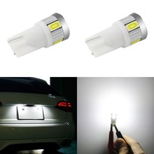 1 Piece Car Styling Auto LED T10 194 W5W 6 SMD 5730 Light Bulb No Error Parking Side