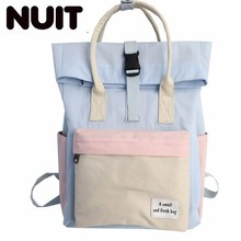 Woman Nylon Backpack Bags Girls Fashion Bag College Students England Wind Campus Both Shoulders Large Capacity