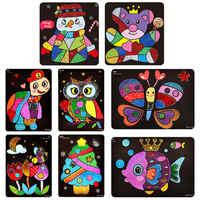 Neue Glitter Papier Magie Kunst Malerei Spielzeug Kinder Färbung DIY Handwerk Lernen Bildung Farbe Kunst Malerei Karte