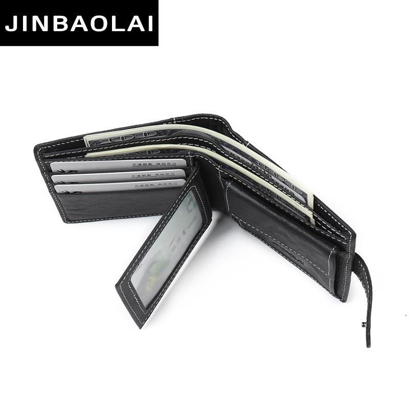 Brand wallet leather Men Wallet coin pocket zipper portfolio Handy luxury Short purse 3 Fold Male Purses Cards wallets Money Bag