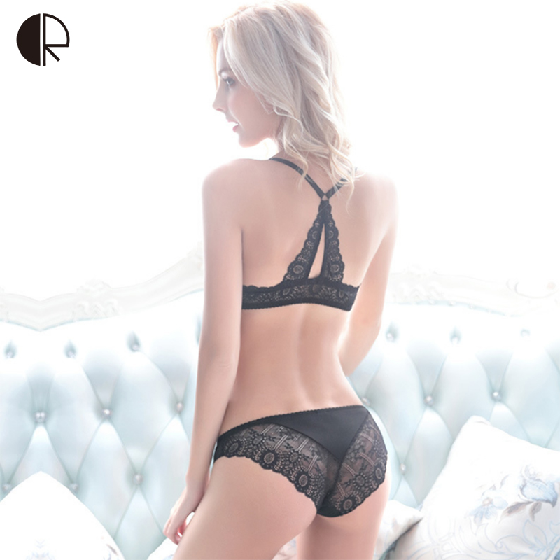 CR Intimates <font><b>2017</b></font> <font><b>New</b></font> <font><b>Women</b></font> <font><b>Sexy</b></font> <font><b>Lingerie</b></font> Lace Y-line Straps Front Closure <font><b>Bra</b></font> Hollow Out Panties <font><b>Bra</b></font> <font><b>set</b></font> <font><b>Underwear</b></font> WI405 image