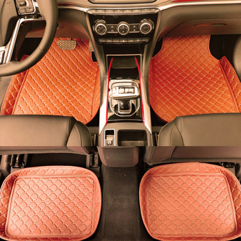 ZHAOYANHUA Universal car floor mats car fit LHD and RHD All Models Skoda Superb Octavia Rapid Yeti Fabia image