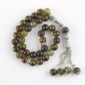 Image 3 - Original 33 Beads 8mm Natural Stone Muslim Rosary Islam Tasby Allah Prayer Rosary Tesbih Islamic Bracelet
