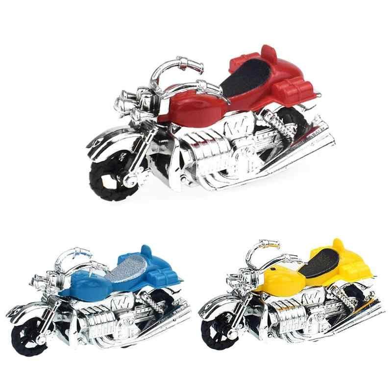 Kids Motorcycle Pull Back Model Toy Motorbike Plastic Educational Toys For Children Montessori Development Creativity Gift