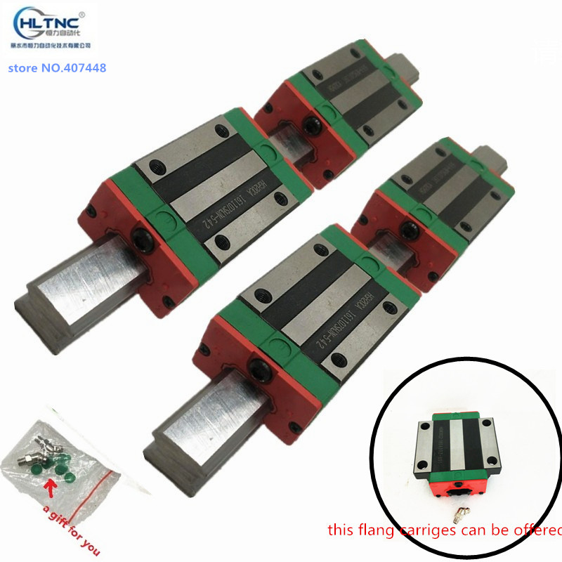 4pc HGR20 HGH20 Square Linear Guide Rail 1600 2500mm 4pc Slide Block Carriages HGH20CA CNC Router