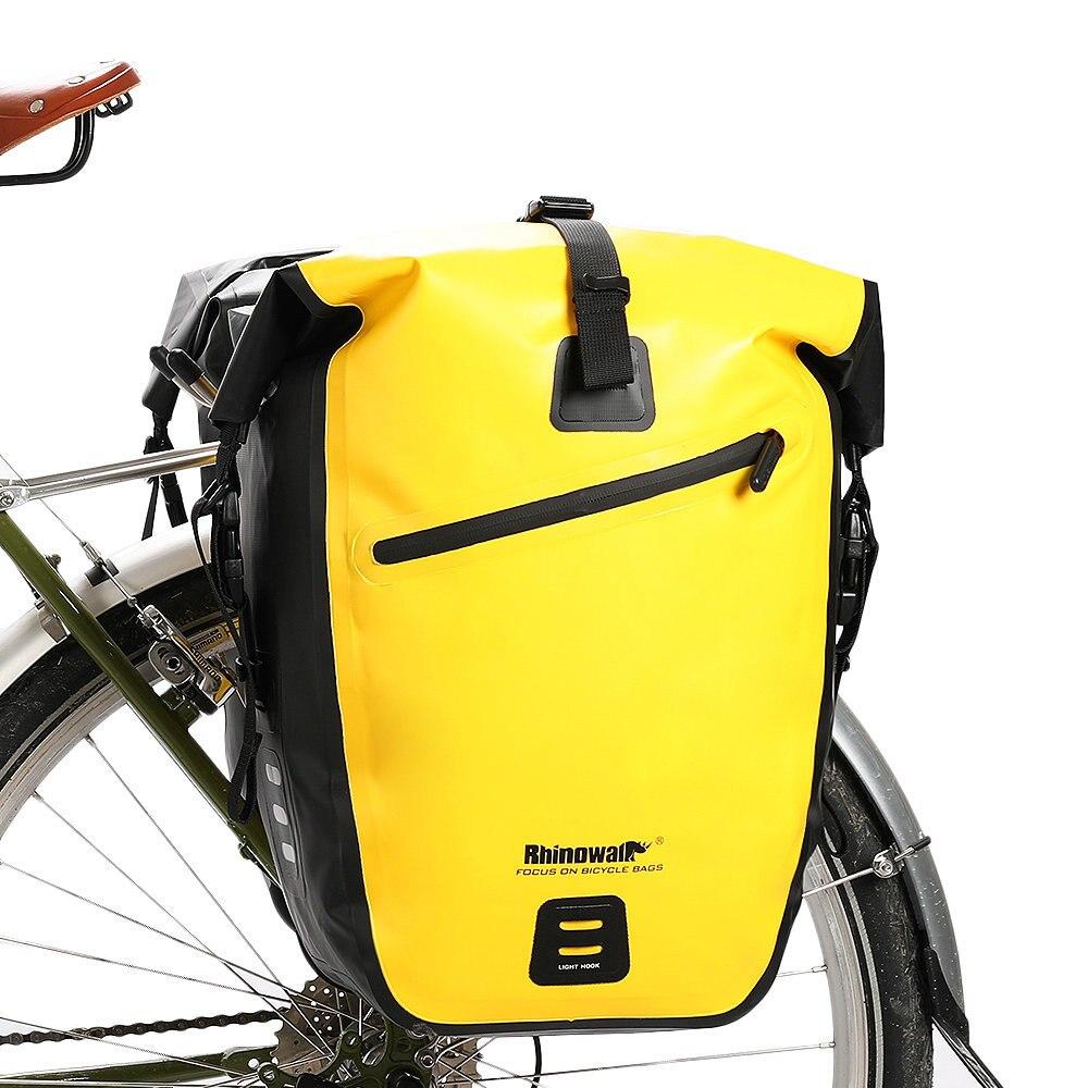 RockBros Completely Waterproof Pannier Bag 27L Bicycle Rear Carrier Black 2pcs