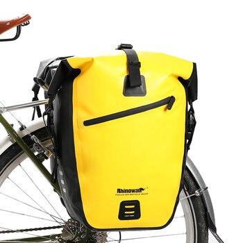 5f3e7f76ffe 25L-27L impermeable bicicleta MTB bicicleta de carretera bicicleta Rack  trasero Pannier bolsa ciclismo asiento trasero del bolso de hombro bolso de  la ...