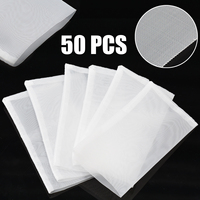 50pcs/Pack 120μm Rosin Press Filter Nylon Mesh Micron Screen Tea Bags for DIY Craft Supplies 6.2*11.3cm
