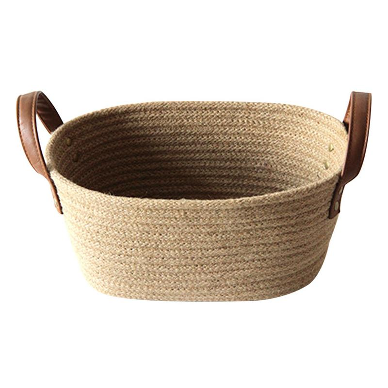 US $12.38 31% OFF|Stylish Household Storage Basket Laundry Baskets With  Handles Hemp Rope Soft Durable Toys Blankets Storage Bins Decorations  In  ...