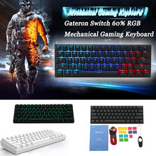 [Gateron Switch]Obins Anne Pro 2 60% NKRO bluetooth 4.0 Type-C RGB Mechanical Gaming Keyboard(China)