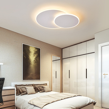 Omicron Modern Led Round Creativity Diy Chandeliers Lighting White Brown Simple For Living Room Bedroom Ceiling Chandelier Light