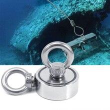 Super Potente Neodimio Magnete Pesca Gancio Anello Deep See Salvataggio 48 millimetri 60 millimetri 67 millimetri 75 millimetri di Pesca Magnetica titolare di Tiro di Montaggio Pentola
