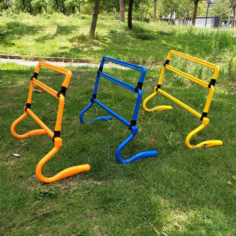 Nueva barrera de fútbol desmontable plegable, barrera de altura de ajuste montada para entrenamiento de velocidad sensible