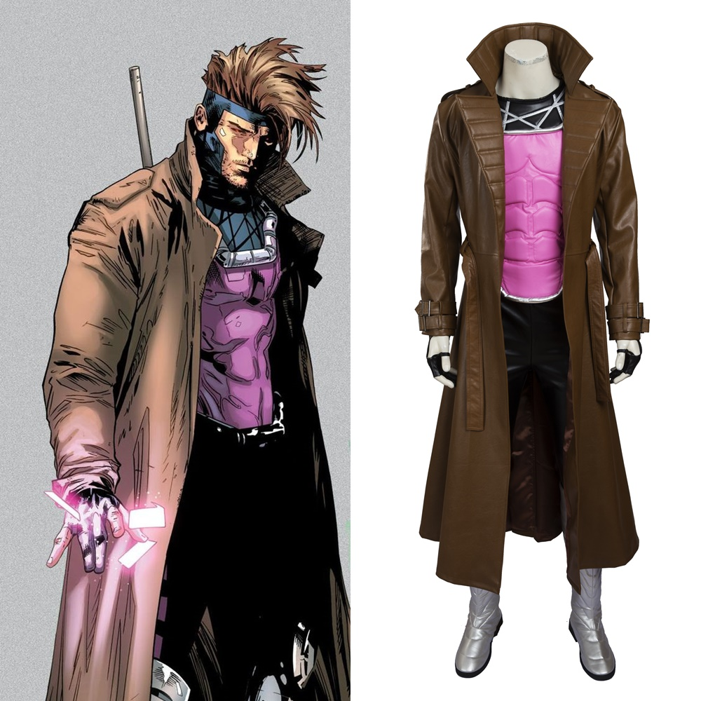 X-Men Remy Etienne Gambit Cosplay Costume Halloween Outfit