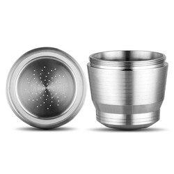 Filtro de café de acero inoxidable lleno de cápsula de café Shell filtro reciclado para cafés bares oficinas casas