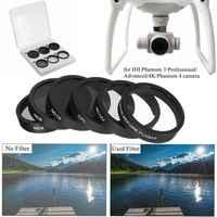 6 uds lente de cámara UV + CPL + ND4/8/16 filtro protector para DJI Phantom 4/3 Pro Phantom/Advanced RC438